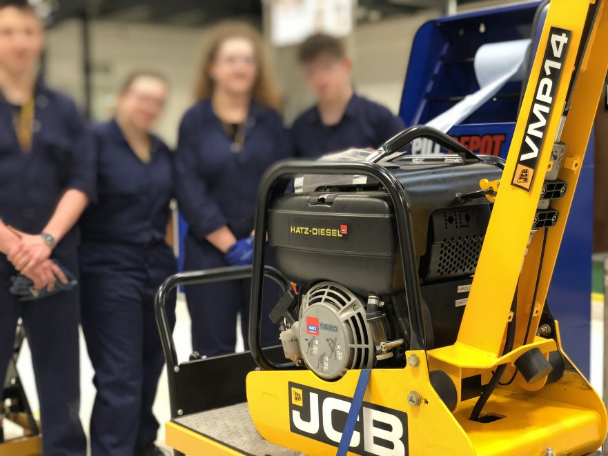Engineering learners at JCB's Centre of Operational Excellence