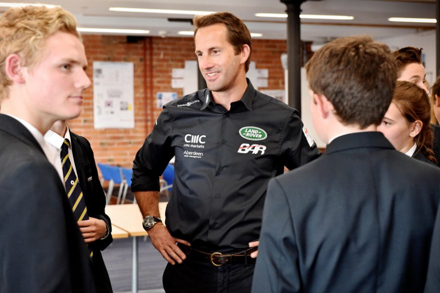 Sir Ben Ainslie at The JCB Academy Sixth Form